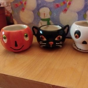 Hallmark Halloween tea light holders. Lot of 3